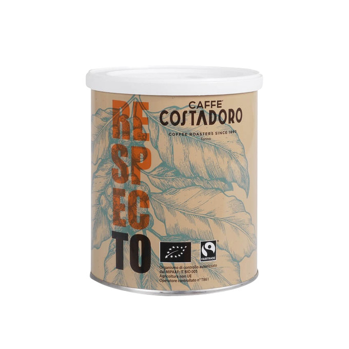 Costadoro RESPECTO MOKA - BIO&FAIRTRADE, 250g gemahlen - Dose - IT-BIO-005
