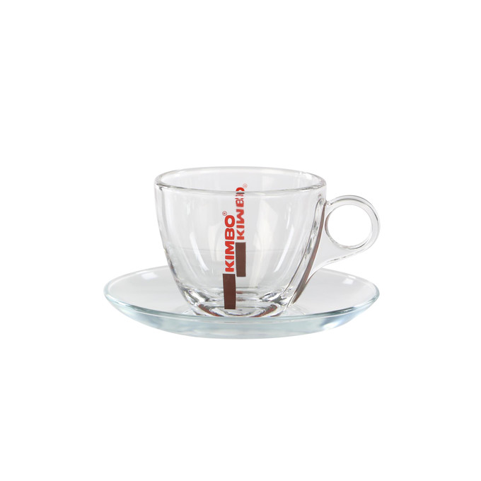 Kimbo Glas Cappuccinotasse - Bar Collection
