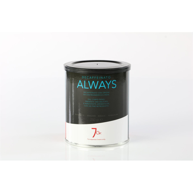 7gr Always Coffee Decaffeinato, 250g, gemahlen, entkoffeniert